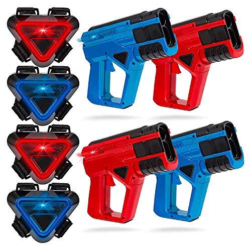 Sharper Image Laser Tag Set - 4 Laserpistolen + 4 Lasertag Westen