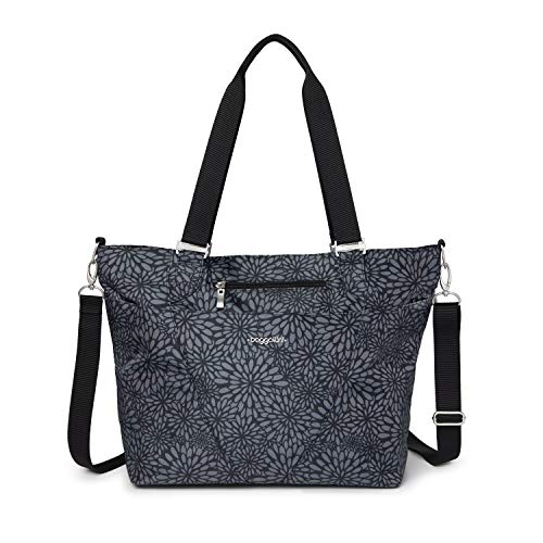 Baggallini Avenue Tote, Pewter Floral