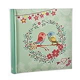 ARPAN - Álbum de Fotos, Estilo Vintage, con diseño de pájaros, 6 x 4 para 200 Fotos, 23 x 23 cm