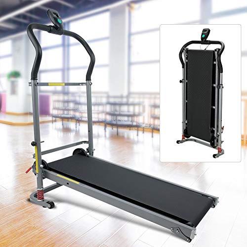 AYNEFY Zusammenklappbare Laufmaschine, mechanische Unterstützung, motorisiertes Laufband, Fitness, Power-Laufgerät, Joggen, Walking, Übung