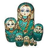 GFCGFGDRG 7pcs / Set de Chicas Muñecas Tilo Siete Capas Rusa de Madera muñecas de Ministerio del Interior del Ornamento de Juguete de Regalo