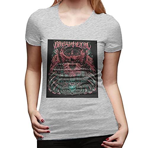 Babymetal T Shirt Gray XL Women T-Shirt aus Baumwolle für Damen Kurzarm Womens Tshirt Rundhalsausschnitt