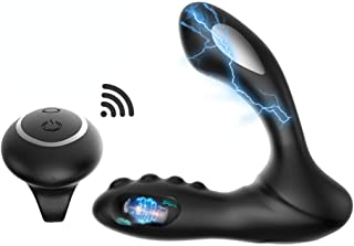 Wireless Remote Control Massager with 2 Powerful Motors and 8 Modes, USB Rechargeable Waterproof Massager for Relaxing