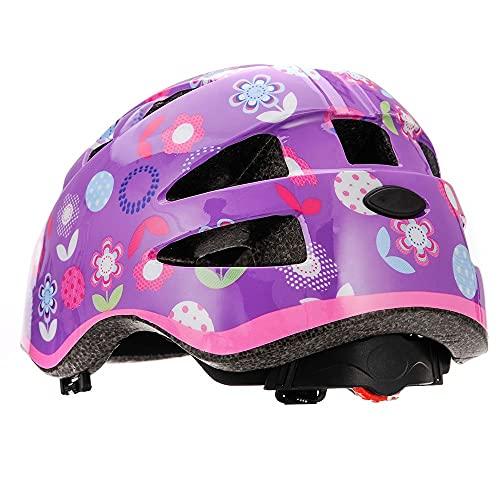 meteor® Kinderfahrradhelm Sicherer Fahrradhelm Kinder-Helm rollerhelm mädchen kinderfahrradhelm für Mountainbike Inliner skaterhelm BMX fahradhelm Scooter Jungen Bike Helmet SIZE: S 48 bis 52 cm 210 g