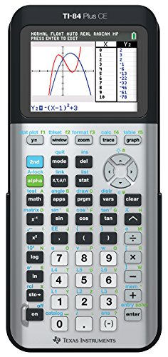 Texas Instruments TI-84 Plus CE Color Graphing Calculator, Galaxy Gray (Metallic)