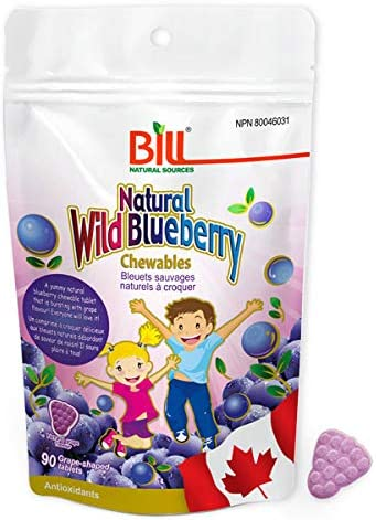 Bill low-pricing Natural Sources Wild 90 Grape- Blueberry Sale price Chewables