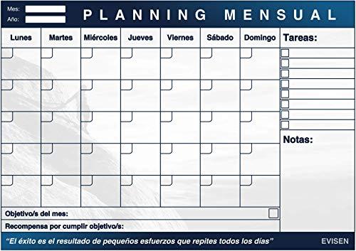 Planificador Mensual En Tamaño A3. Calendario y Organizador Para 50 Meses.