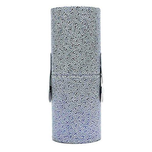 ELENXS Nouveau Cuir PU Porte-cosmétique Coupe Case Maquillage Boucle Voyage Portable Brush Pen Vide Boîte de Rangement Organisateur 9#