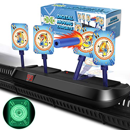 X TOYZ Digital Targets for Nerf Guns - Electronic Running Target Auto Rest for Shooting Practice, Ideal Gift for Kids, Boys & Girls (V2)