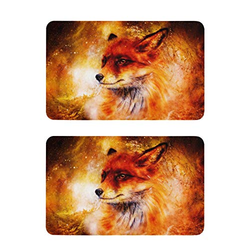 Mnsruu Imanes para nevera, Wild Fox para lavavajillas, 2 unidades, imanes decorativos para pizarras blancas de cocina