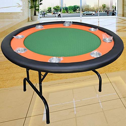 RSTJ-Sjap 8-Personen-Chip-Pokertisch, Runder Einfacher Poker-Turnier-Tischplatte, Faltbare Tischbeine, Für Ereignisse Für Innen- Und Outdoor-Ereignisse,Grün