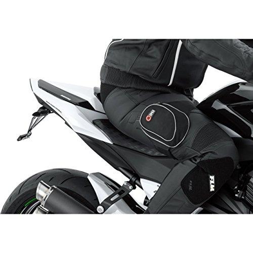 QBag Motorradtasche Motorrad Tasche/Hülle/Etui Thigh Bag Arm- / Beintasche zum Motorradfahren, rutschfest, 2 kleine Einschubtaschen, kräftiges Klettband, reflektierende Keder, Schwarz, 0,4 Liter