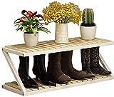 Zapatero Para Zapato de múltiples capas Simple rack de almacenamiento en rack de madera maciza puerta del armario zapatero de la sala del hogar zapatero 80 × 26 × 30 cm de espacio del hogar Ahorro de