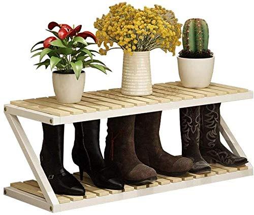 Zapatero Zapato de múltiples capas Simple rack de almacenamiento en rack de madera maciza puerta del armario zapatero de la sala del hogar zapatero 80 × 26 × 30 cm de espacio del hogar Ahorro de gran