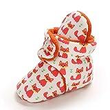 MASOCIO Botas Bebe Niño Niña Invierno Botines Botitas Bebé Recién Nacido Zapatillas Casa Calentar Zapatos Primeros Pasos Zorro Talla 20 12-18 Meses