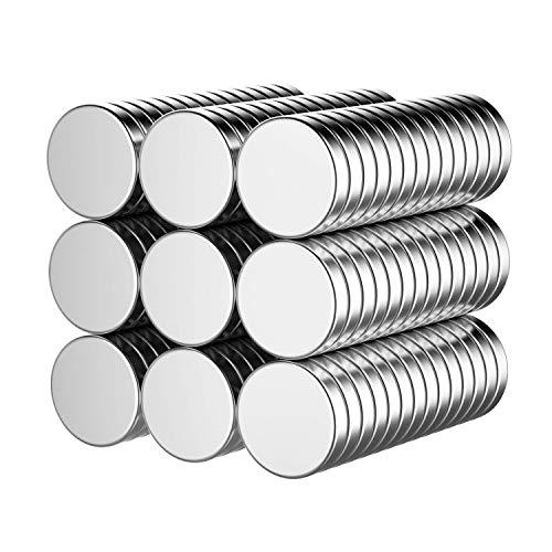 Temporaryt Neodym Magnete 60 Stück, Starke Permanent Magneten Mini 10mm, Runde Kleine Magnets für Whiteboard, Pinnwand, Magnettafel bänder, und vieles mehr - mit Aufbewahrungsbox