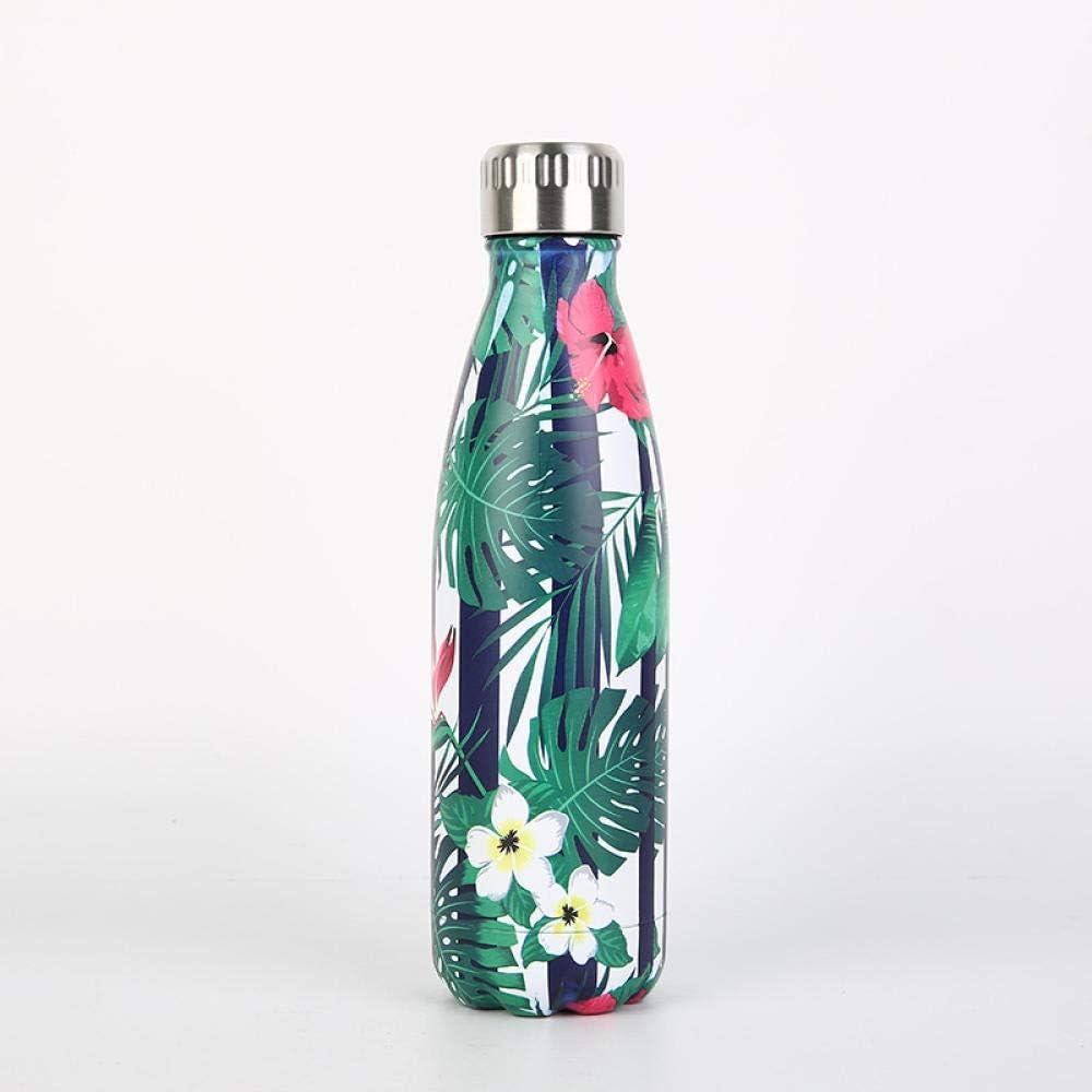 Termo Botella Acero Inoxidable Sin Bpa | A Prueba De Fugas, Sin Sudoración | Botellas De Agua Reutilizables | Aislamiento Al Vacío De Doble Pared-05_500Ml