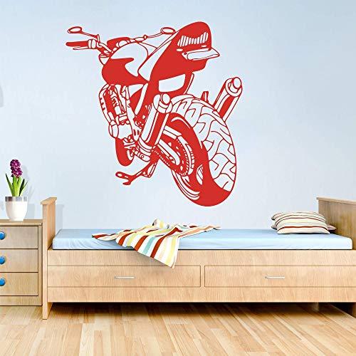 JXNY Motocicleta Grande Motocicleta calcomanía de Pared Garaje niño habitación Motocicleta Off-Road Racing Coche Deportivo Coche Etiqueta de la Pared Dormitorio Oficina Vinilo decoración 54x54 cm