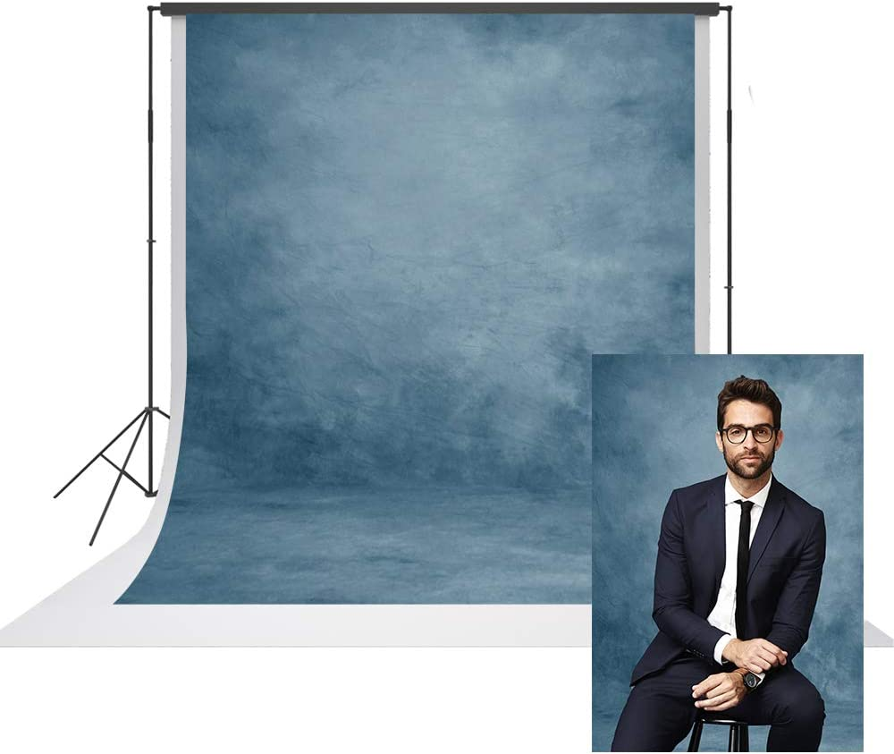 UrcTepics 6.5X10ft Pro Max 44% OFF Manufacturer regenerated product Microfiber Abstract Blue Headsho Portrait