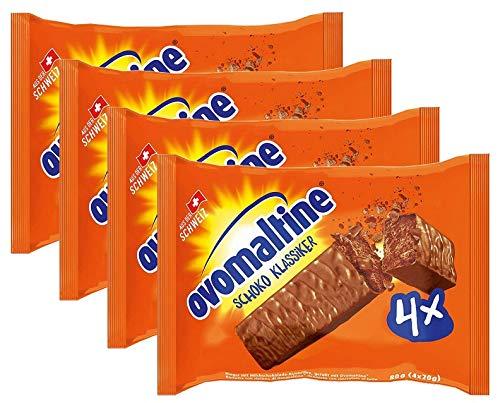 Ovomaltine 4er Pack Schoko Klassiker, der ultimative Riegel für Energie und Genuss, 4er Pack ( 4x80g )