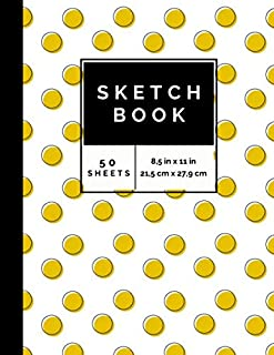 Sketch Book: Wonderful Notebook for sketching doodling drawing or writing. Ideal for Kids & Adults. Sunflower Background C...