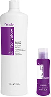 Fanola No Yellow Shampoo, 1000 ml With Free Vegan Travel Size