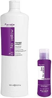 Fanola No Yellow Shampoo, 1000 ml With Free Vegan Travel Size
