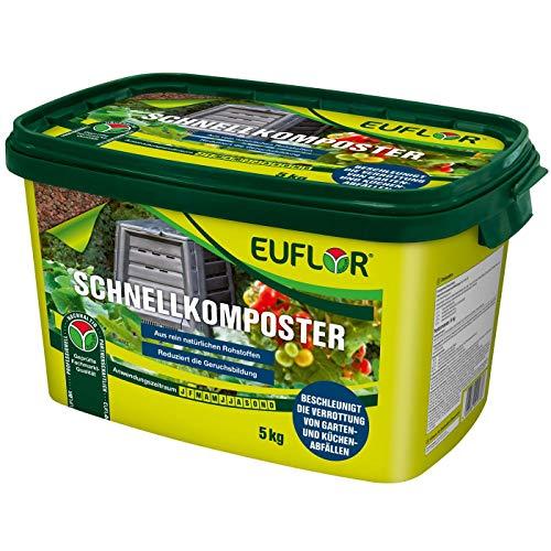 Euflor Schnellkomposter 5 kg•Beschleunigt die Verrottung organischer Abfälle auf Natürliche Art•Magnesiumkalk und wertvollen organischen Bestandteilen • schnelle Umwandlung zu fruchtbaren Humus