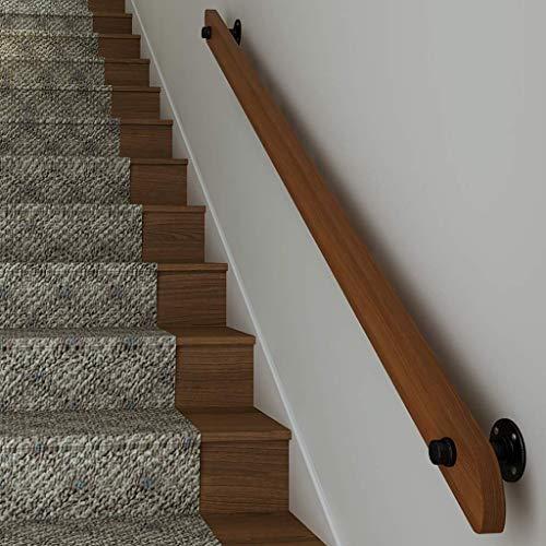 CTO Wandtreppe Handlauf Geländer Treppenhandlauf mit Komplettset Decking Holzgeländer für Innen-Treppengeländer Geländer Geländer Kit Kanalzugang Korridor Balustrade,30cm