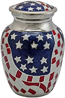 Memorial Gallery Cremation Urn: American Flag 6