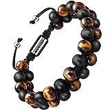 Bracelet en pierre naturelle pour les hommes, Braceletréglable de perlesavec huile...