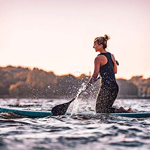 Karltion SUP Paddle - Adjustable 3 Pieces Stand-Up Board Paddles Floating Aluminum Alloy Shaft Easy Packable Travel SUP-Black