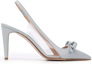 Luxury Fashion | Red Valentino Women TQ2S0C48SIAA98 Light Blue Leather Heels | Spring-summer 20