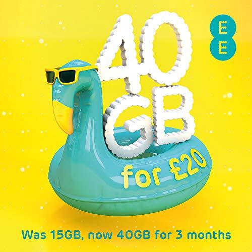 EE £20 Data SIM inkl £20 Aufladung für 30 GB, 750 Minuten & unbegrenzte Texte