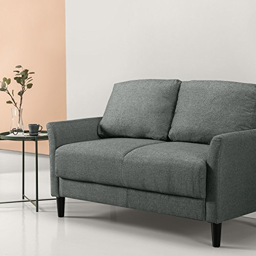 Zinus Sofa / Kleine gewebte Polstercouch / 136x88x79 / grau-grün