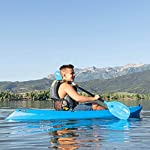 Lifetime Youth Wave Kayak (Paddle Included), Blue, 6' 15 Ergonomic Cockpit Design Enhances Balance and Motor Skills Molded finger handles on each side of the kayak Reverse chine for enhanced stability with swim-up step