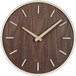 Reloj De Pared De Números Reloj de pared silenciosa for no tictac Calidad 12/14/16 pulgadas Ronda fácil de leer for el hog...