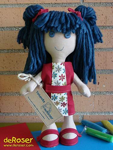 Muñeca de trapo única hecha a mano