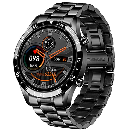 LIGE Smart Watch for Android iOS, Bluetooth Calls Voice Chat with...