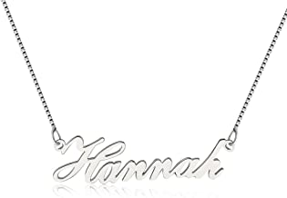925 Sterling Silver Personalized Name Necklace Pendant Custom Made with Any Names,Valentine's Day/Anniversary/Birthday Gift