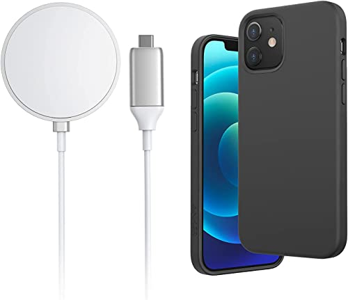 discount Anker new arrival iPhone 12 Mini Magnetic Silicone Case, 5.4 inches (Dark Gray) & Anker online Wireless Charger outlet online sale