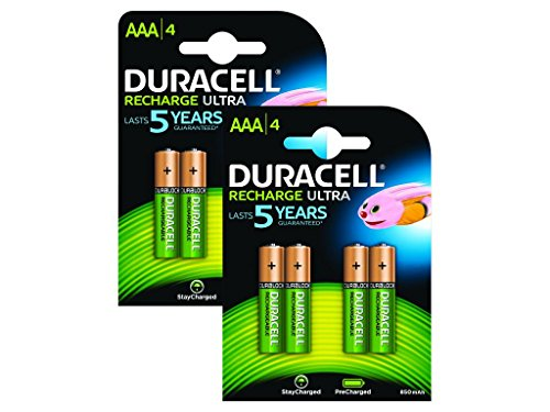 Duracell - Piles Rechargeables - AAA - Pack de 8