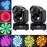Cabezas Moviles LED,UKing Moving Head con 8 Globos y 8 Colores, DMX512, Sonido Activado para Fiestas, DJ, Espectáculos, Bares, Iluminación de Escenarios(2Pcs)
