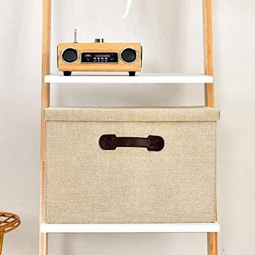 XZHH Opslag van manden van katoen linean op de kast bed in de kleedkamer Kleine plus grote Warm geel
