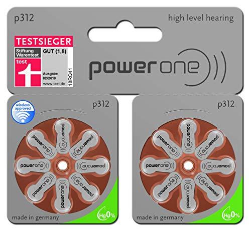 Power One Batterie per apparecchi acustici Varta tipo 312MF in grande set da 60 + 20 pezzi (confezione in lingua italiana non garantita)