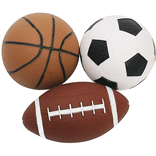 XXLYY Mini Sports Ball Game Ball Set for Children Football Basketball And Rugby Balls Fun Outdoor Toys 3 Pieces,3 pcs