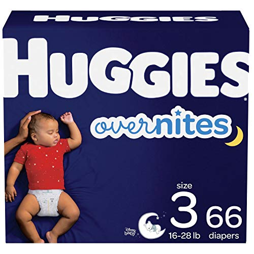Nighttime Baby Diapers Size 3, 66 Ct, Huggies Overnites