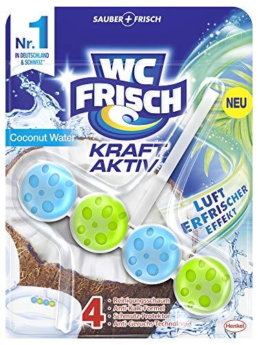 WC-Frisch Kraft Aktiv Duftspüler Coconut Water, WC-Reiniger, 50 g (1er Pack), mit Lufterfrischer Effekt für einen intensiven Duft, W1C9