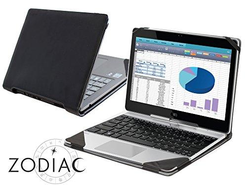 Navitech Schwarzes Echtleder Case Cover Tasche für das HP Elitebook Folio 1020 Series/HP EliteBook Revolve 810 G2
