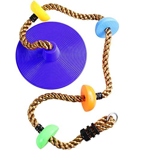 Not application Juego de columpio de cuerda de escalada de 12 pulgadas para patio trasero con plataformas, columpios de árbol para niños juguetes al aire libre para niños
